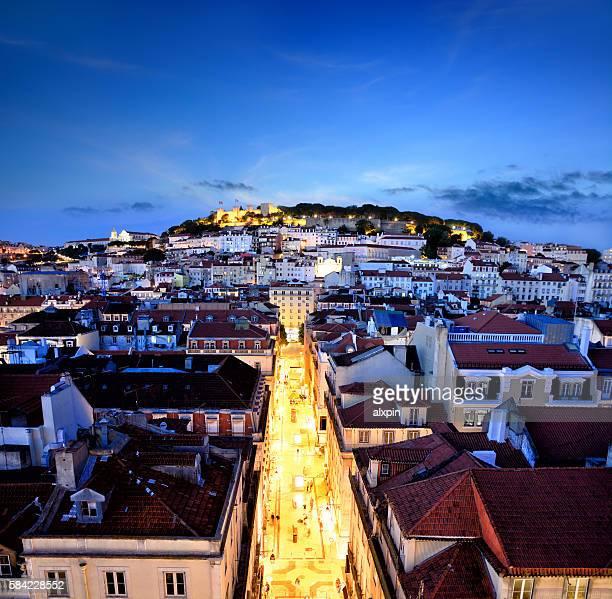 リスボンのパノラマ - バイシャ ストックフォトと画像