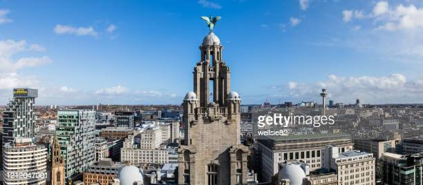 panorama of liverpool - liverpool england stock pictures, royalty-free photos & images
