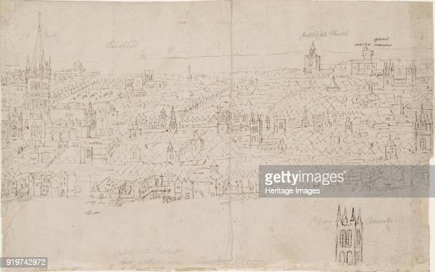 Panorama of London as seen from Southwark St Paul's Cathedral 1554 Artist Anthonis van den Wyngaerde