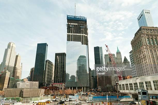 Panorama of Lower Manhattan with Ground Zero