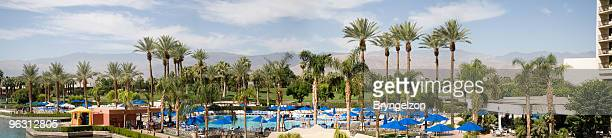 panorama of luxury hotel - palm springs california stock pictures, royalty-free photos & images