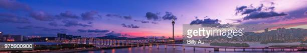 panorama of macau 2013 - macao stock pictures, royalty-free photos & images