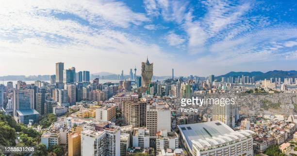 panorama of macau city - マカオ ストックフォトと画像