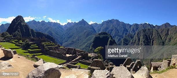 "panorama of machu picchu, peru - ""markus daniel"" stock pictures, royalty-free photos & images"