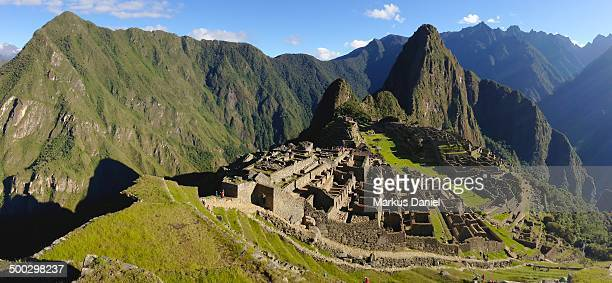 "panorama of machu picchu, peru - ""markus daniel"" stock pictures, royalty-free photos & images"