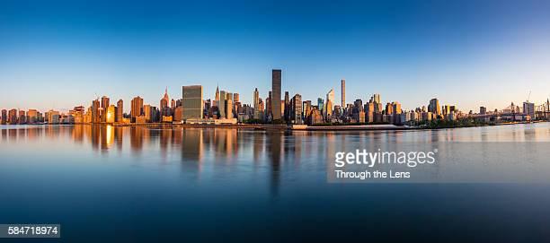 Panorama of Manhattan during Sunrise