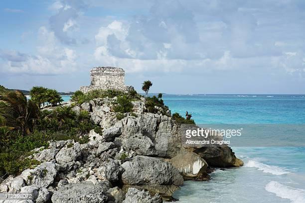 Panorama of Mayan ruins inTulum