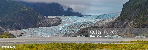 Panorama of Mendenhall Glacier near of Juneau, Alaska