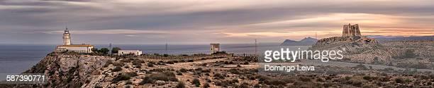 Panorama of Mesa Roldan, Cabo de Gata Natural Park