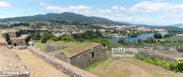 Panorama of Minho river and Tui seen from Valença do Minho