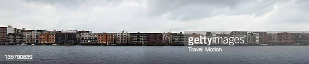 Panorama of modern architecture on Java-island, Amsterdam, The Netherlands