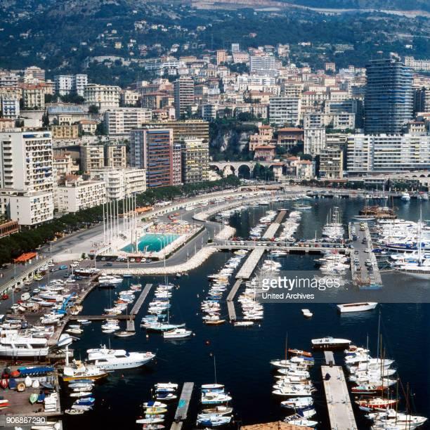 Panorama of Monte Carlo in Monaco 1970s
