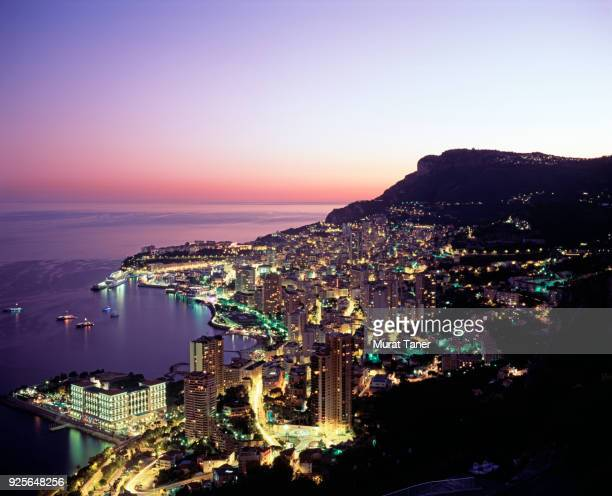 panorama of monte carlo in monaco - monaco stock pictures, royalty-free photos & images