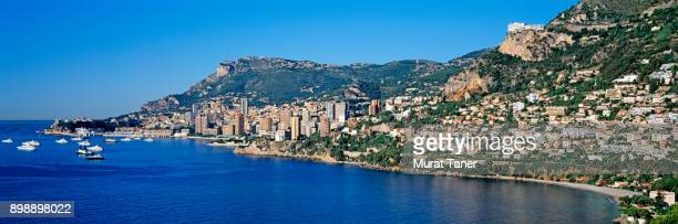 panorama of monte carlo - monte carlo stock pictures, royalty-free photos & images