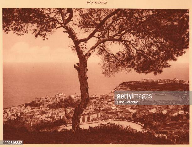 'Panorama of MonteCarlo taken from the Turbie Road' 1930 From La Cote d'Azur de Marseille a Menton [Levy Neurdein Paris 1930] Artist Unknown