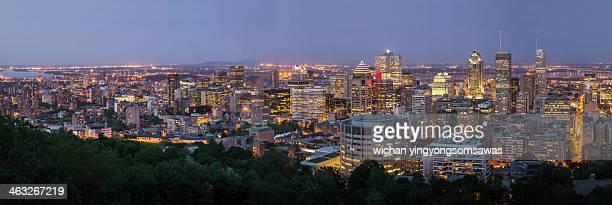 Panorama of Montreal skyline