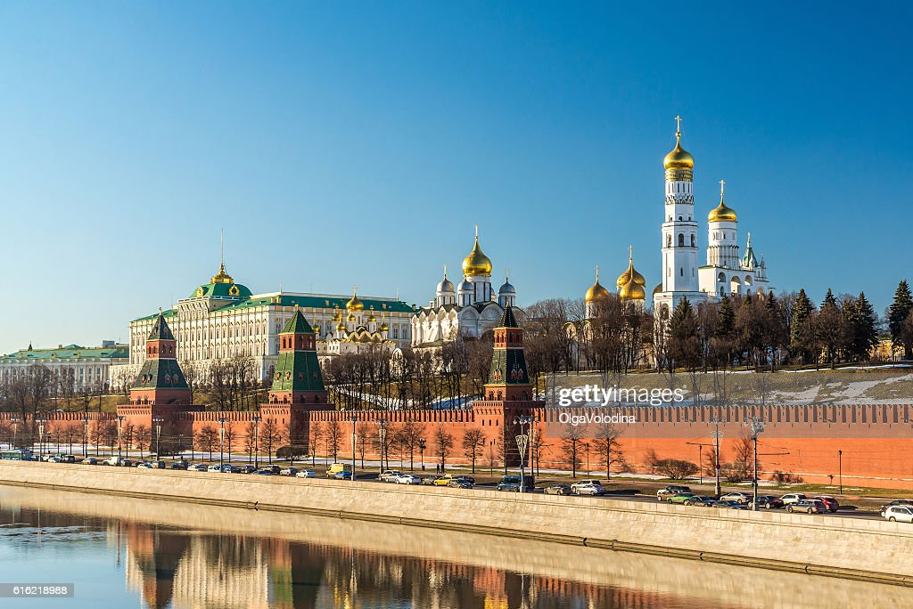 Panorama of  Moscow Kremlin on  sunny day, Russia : ストックフォト