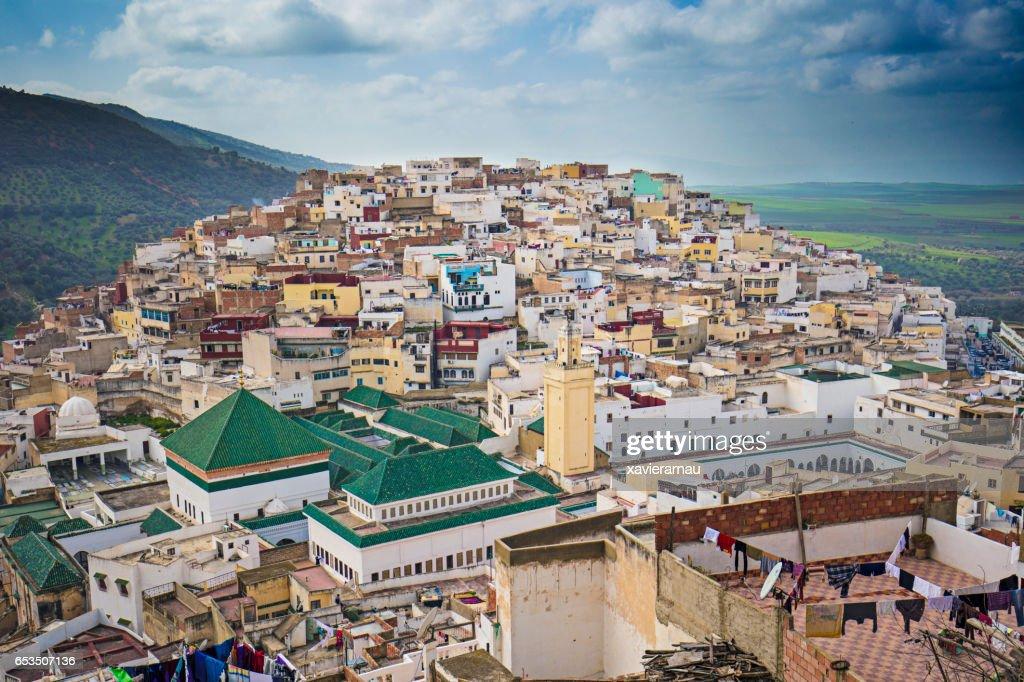 Panorama of Moulay Idriss : Stock Photo