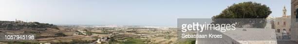 Panorama of Mtarfa, Valletta and surroundings, Mdina, Malta