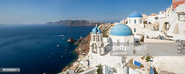 Panorama of Oia village in Santorini island of Greece