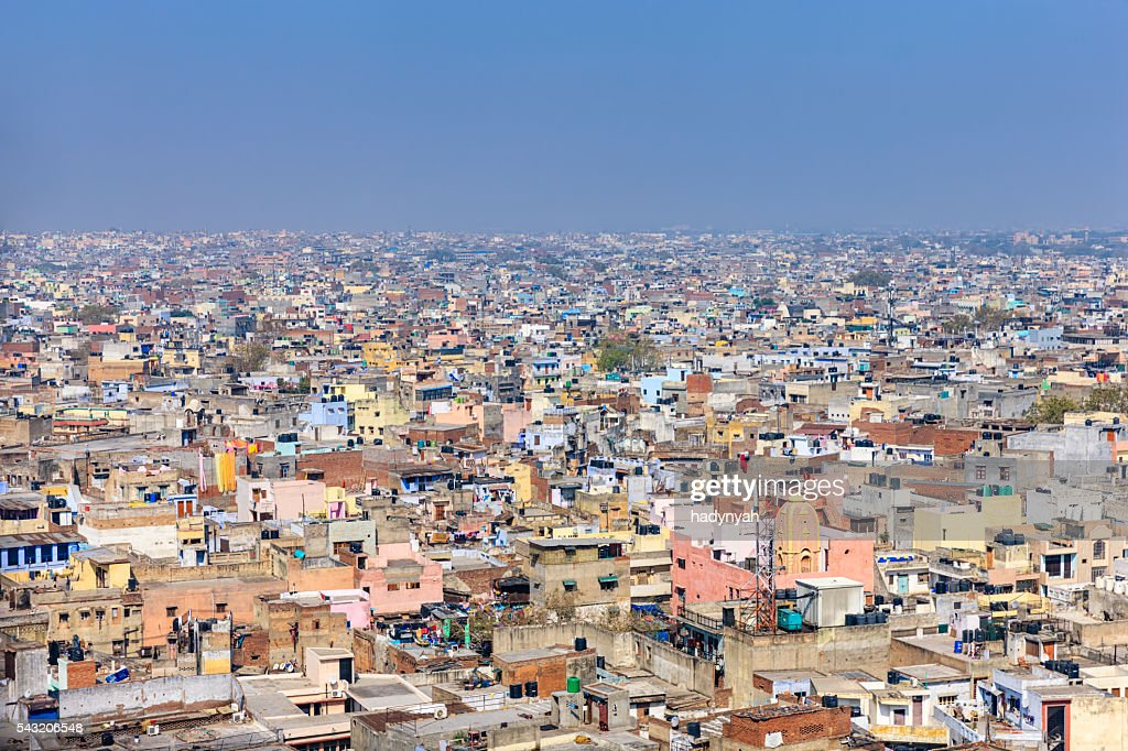 Panorama of Old Delhi, India : Stock Photo