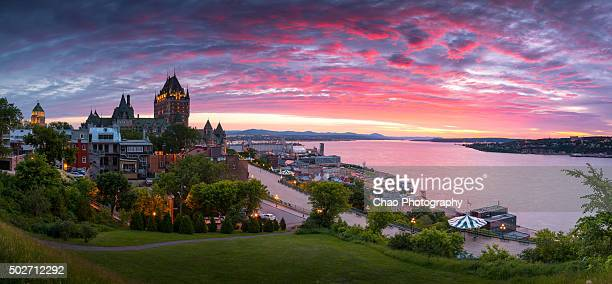 Panorama of Old Quebec City at Dawn