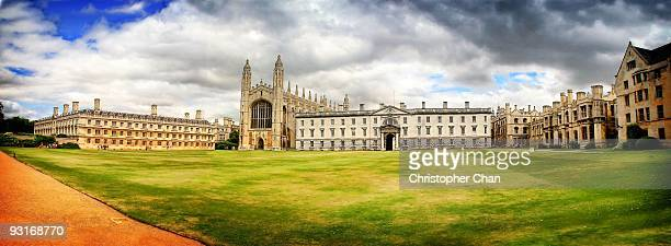 panorama of old university - cambridge university stock pictures, royalty-free photos & images