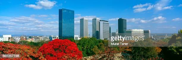 panorama of osaka business park - 大阪ビジネスパーク ストックフォトと画像