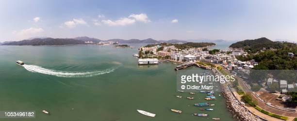 Panorama of Peng Chau island in Hong Kong, China