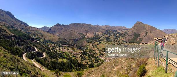 "panorama of pisac, peru - ""markus daniel"" stock pictures, royalty-free photos & images"