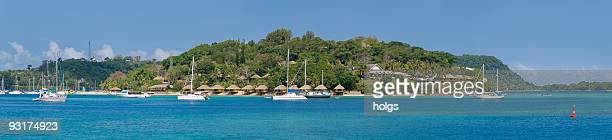 panorama of port vila in vanuatu - vanuatu stock photos and pictures