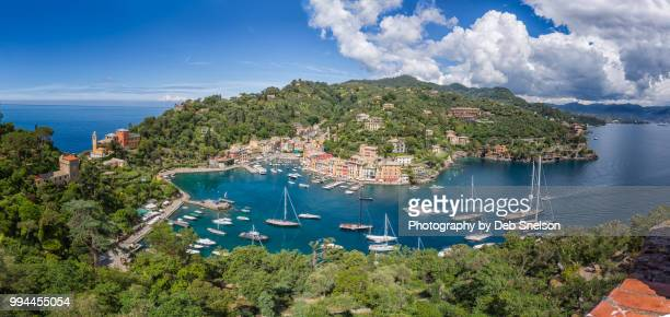Panorama of Portofino from Bartizon of Castle Brown