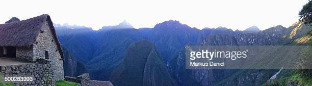 Panorama of Putucusi Mountain Machu Picchu