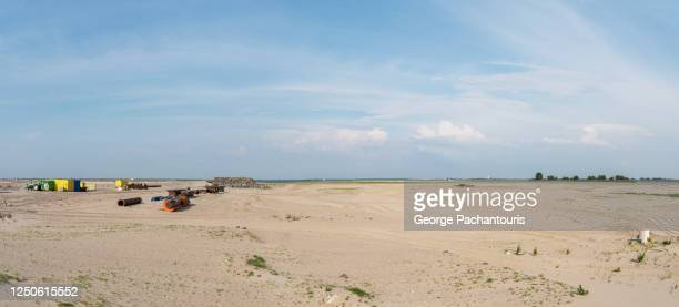 panorama of reclaimed land in ijburg neighborhood of amsterdam, holland - demography stock pictures, royalty-free photos & images