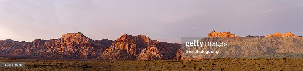 Panorama of Red Rocks Canyon landscape : Stock Photo