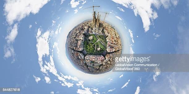 360° Panorama of Sagrada Familia, Spain