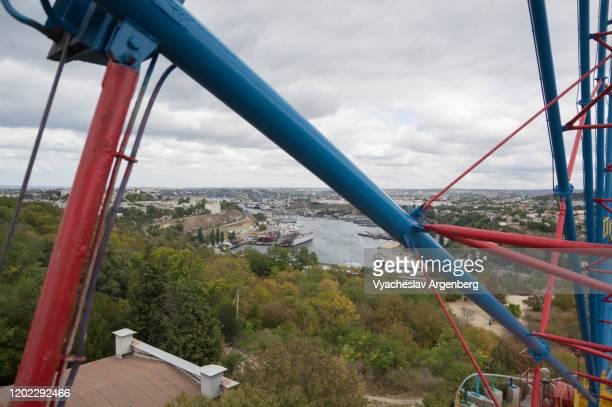 panorama of sevastopol from sevastopol's ferris wheel - argenberg fotografías e imágenes de stock