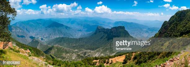 panorama of sierra gorda in mexico - lookout tower stock pictures, royalty-free photos & images
