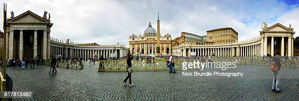 Panorama of St Peter's Church, Rome, Italy