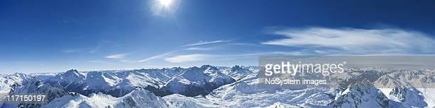 Panorama of St.Anton am Arlberg ski area from Valluga.XXXL