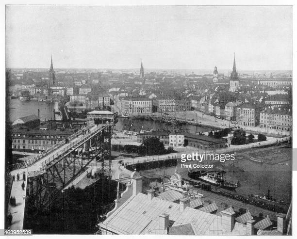 Panorama of Stockholm Sweden late 19th century Photograph from Portfolio of Photographs of Famous Scenes Cities and Paintings by John L Stoddard...