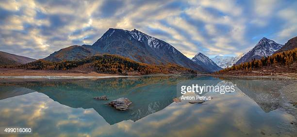 panorama of sunrise in the mountains - anton petrus stock pictures, royalty-free photos & images
