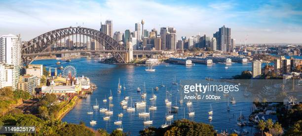 panorama of sydney city, cityscape of new south wales - north stock pictures, royalty-free photos & images