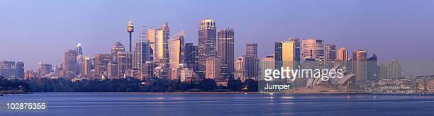 Panorama of Sydney Skyline at Sunset