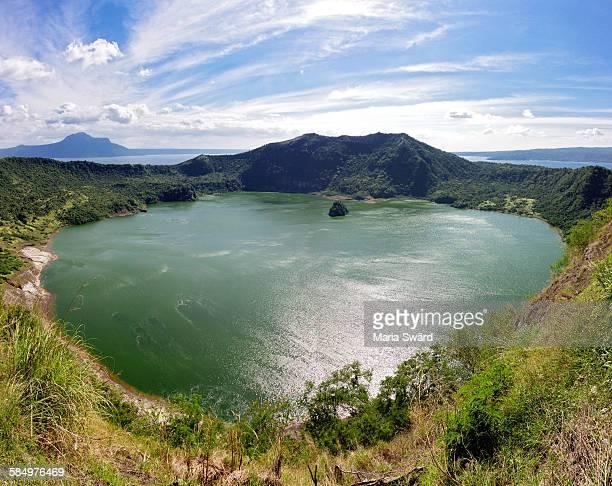 panorama of taal volcano - taal foto e immagini stock