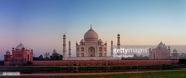 Panorama of Taj Mahal at sunset, Agra, India