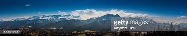 panorama of tatra moutains - krzysztof turek stock pictures, royalty-free photos & images