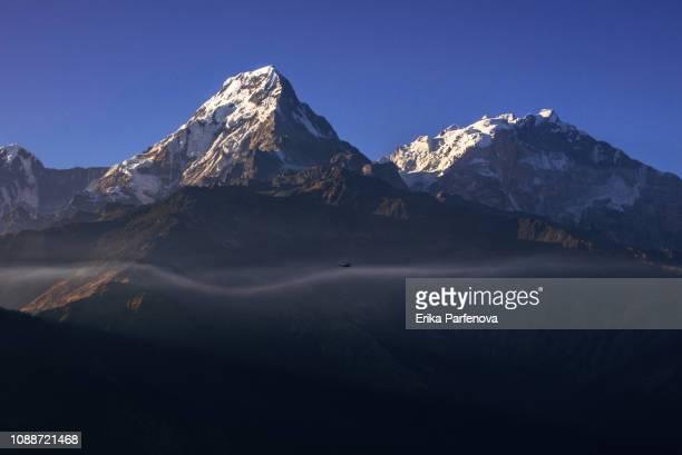 Panorama der Annapurna Bergkette im Himalaya aus Poon Hill