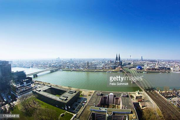 CONTENT] A panorama of the city of cologne taken in March 2013 as seen from the observation deck of the Triangle Building You can see the Rhine River...