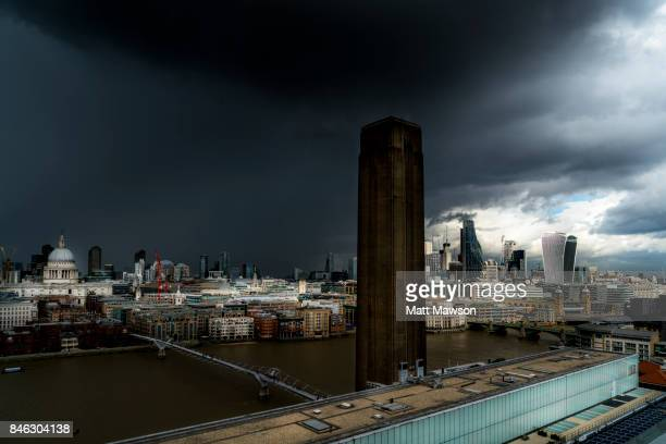 Panorama of the City of London England UK